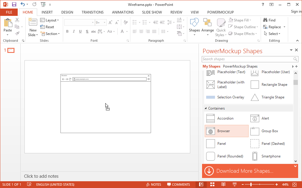 PowerPoint Wireframe and Prototyping Tool | PowerMockup